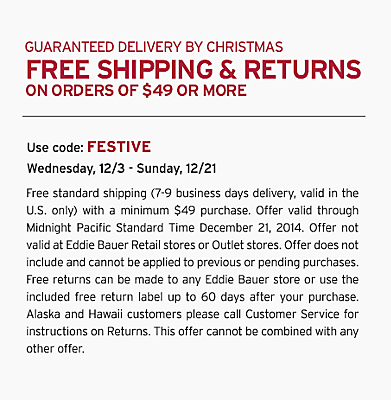 Guaranteed Delivery By Christmas. Free Shipping & Returns On Orders Of $49 Or More. Use code: FESTIVE. 