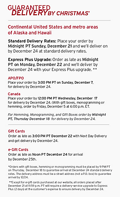 Guaranteed Delivery By Christmas. 