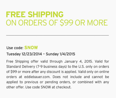 Free Shipping On Orders Of $99 Or More. Use code: SNOW.