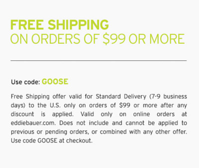 Free Shipping On Orders Of $99 Or More. Use code: GOOSE. 