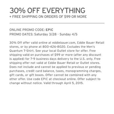 30% Off Everything + Free Shipping On Orders Of $99 Or More - Use Code: EPIC