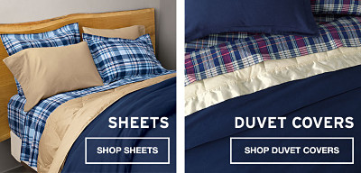 Sheets and duvet covers