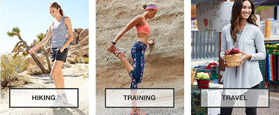 Hiking, Training, Travel.