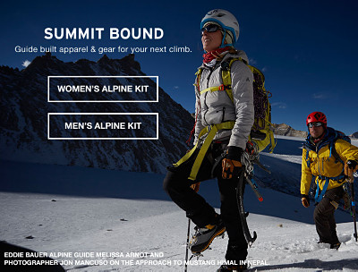 Summit bound. Guide built apparel and gear for your next climb.