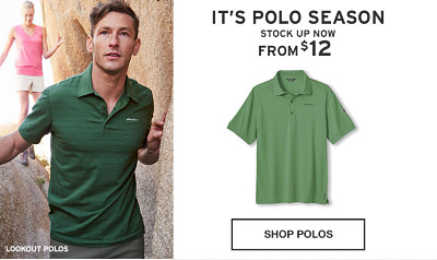 It's polo season. Stock up now.