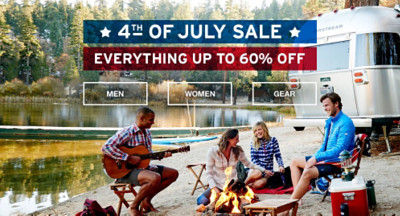 4th of July Sale. Up to 60% off.