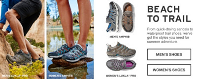 Shop Footwear from Beach to Trail.