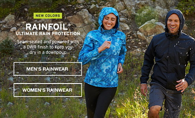 Rainfoil. Ultimate rain protection. Seam-sealed and powered with a DWR finish to keep you dry in a downpour.