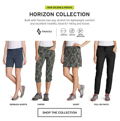 The Horizon Collection. Built with Flexion two-way stretch.