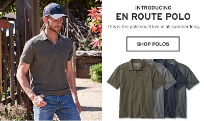 Introducing En Route Polo. This is the polo you'll line in all summer long.