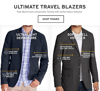 Ultimate Travel Blazers. Your ideal companion. Packed with performance features.
