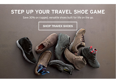 Step Up Your Travel Shoes Game. Save 30%.