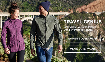 Travel Genius. Lightweight. Versatile. Packed with performance.