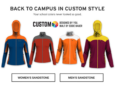 Custom Sandstone Jacket. Design your jacket today - get it in time to show it off on campus.