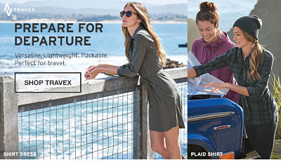 Prepare for departure. Perfect for Travel. Shop Women's Travex
