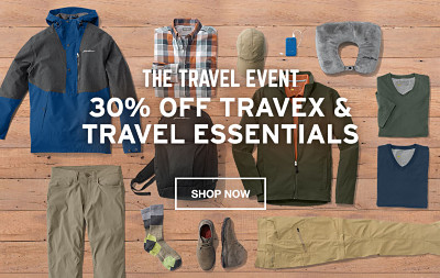 Pack Smart. 30% Off Travex and Travel Essentials.