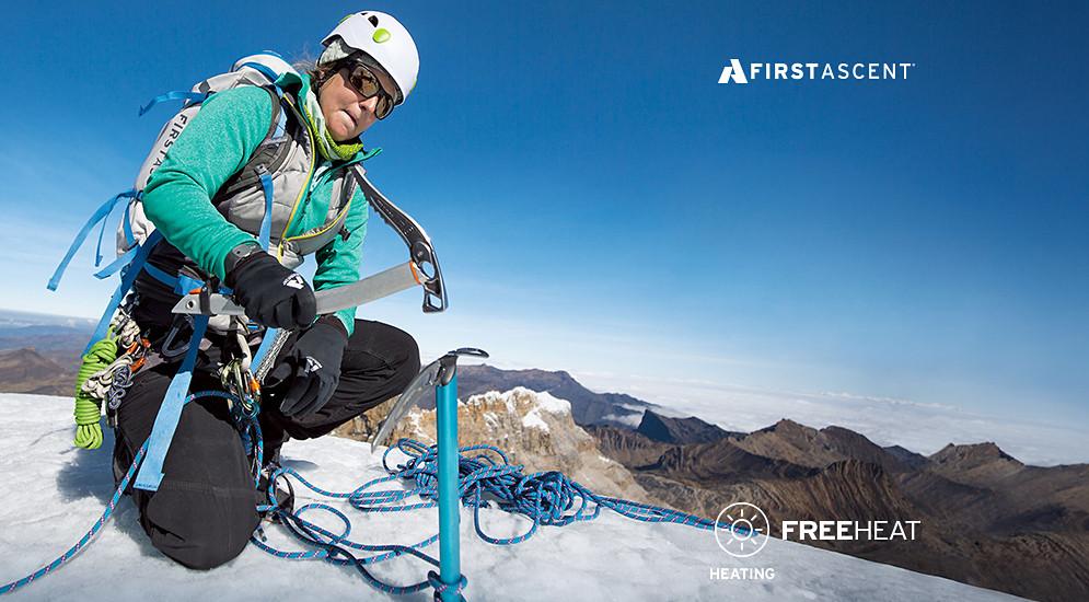 Eddie Bauer alpine guide Melissa Arnot in Colombia.