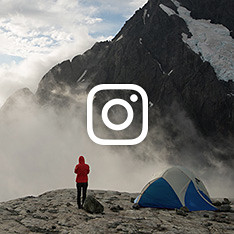 Scenic image of camping in the mountains