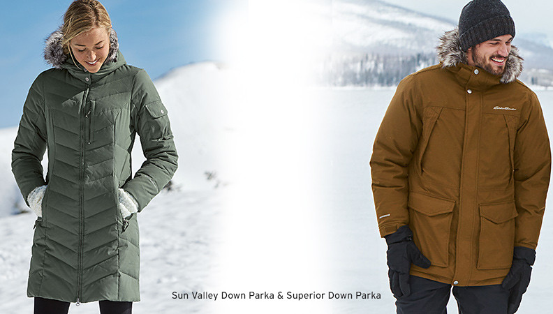 Cold-weather parkas and jackets for men and women