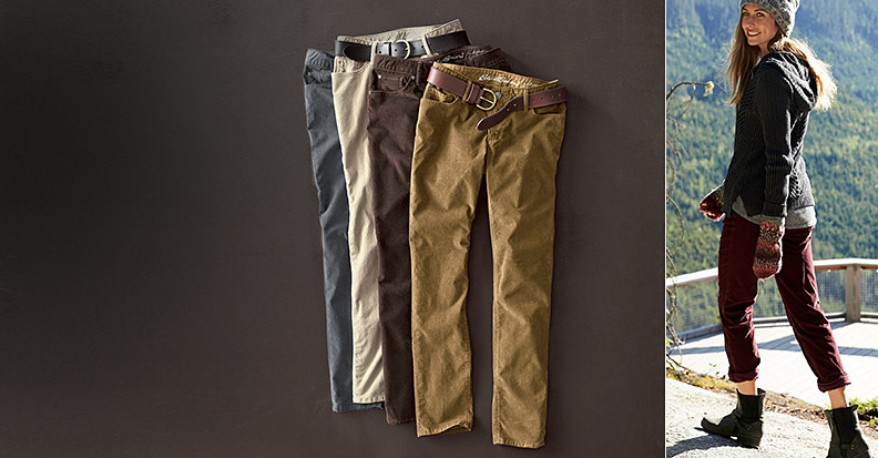 Corduroy pants for women