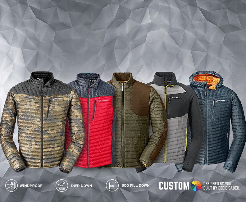 MicroTherm Stormdown jackets, parkas, and vests