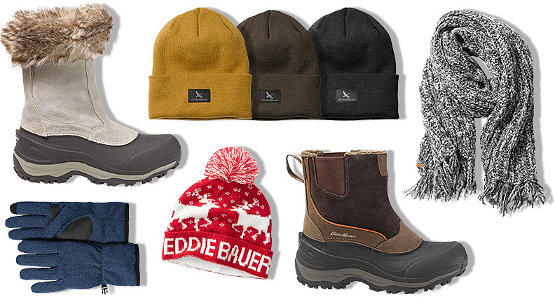 Cold weather boots and accessories for men and women
