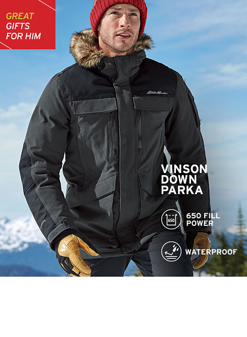 Cold weather outerwear for him
