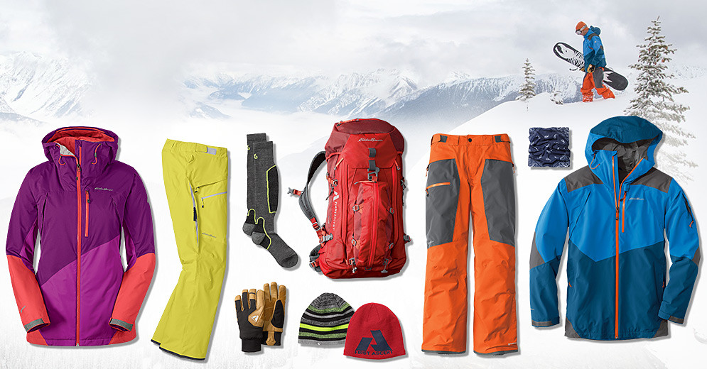 Ski apparel and gear for men and women
