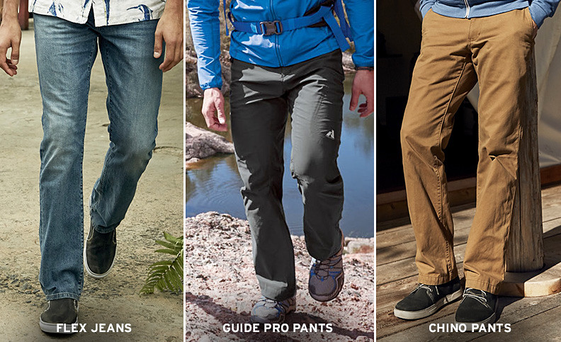 We've got the best jeans, chinos, and performance pants for every activity