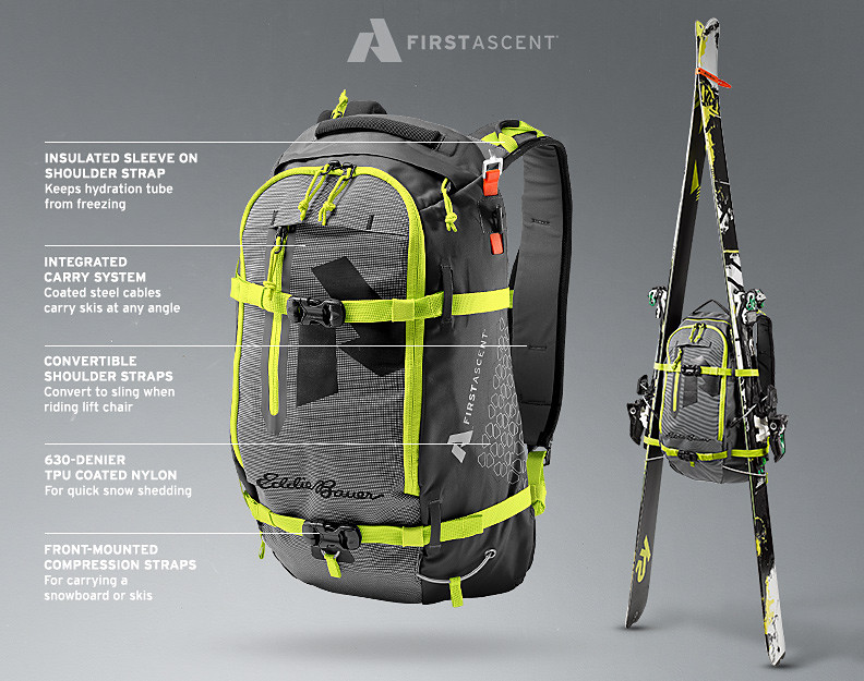 The Vert 18L. Our guide built backcountry ski pack