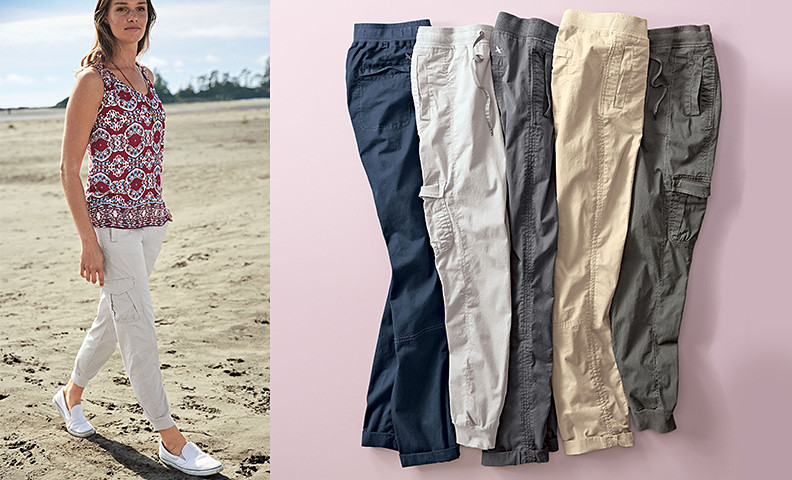 Kick Back Twill Pants for women