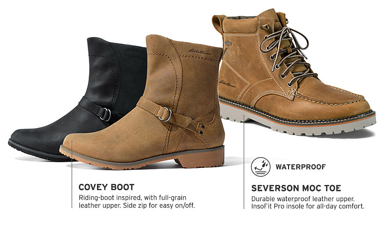 Covey boots for women and Severson moc toe boots for men and women