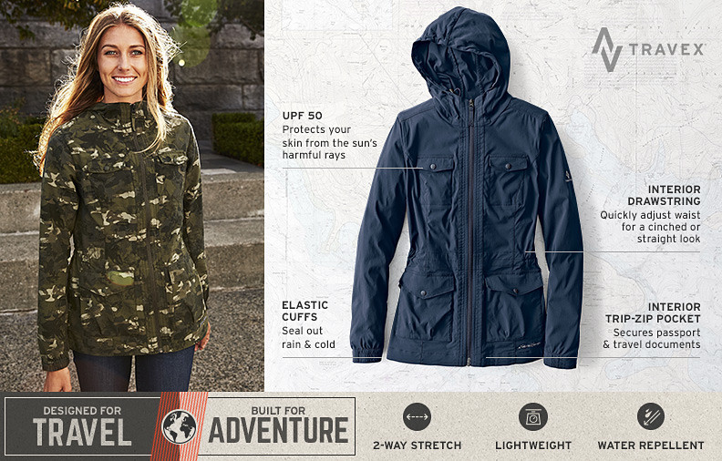 Atlas soft shell travel jacket for women