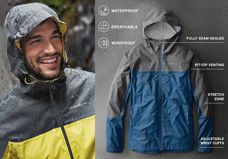 Cloud Cap Flex Rain Jacket for men
