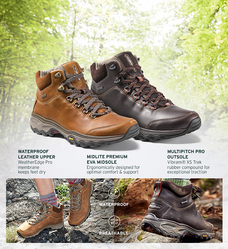New Cairn Mid Leather Hikers for men and women
