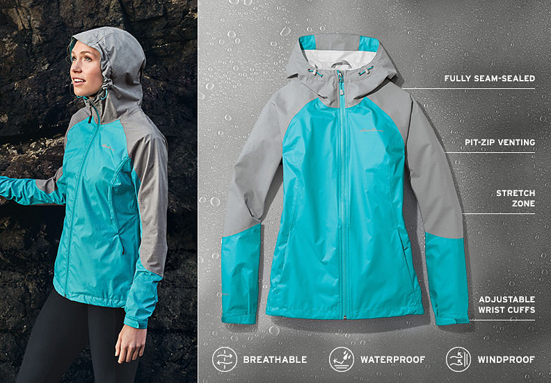 Cloud Cap Flex Rain Jacket for women