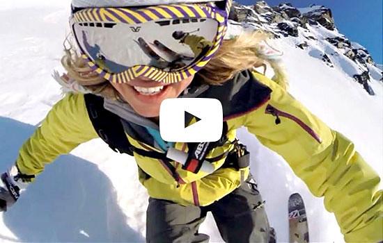 Image of Eddie Bauer free skier Lynsey Dyer