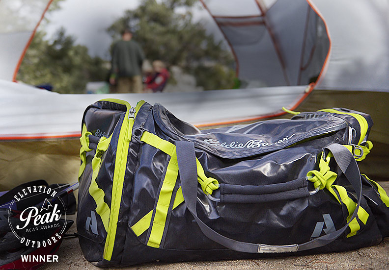 Image of a Maximus Duffel inside a tent