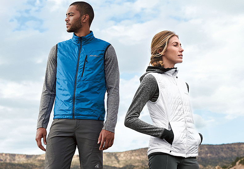 Image of a man and a women wearing IgniteLite Vests