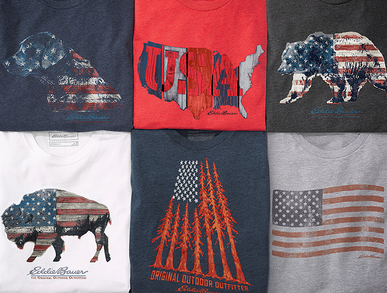 Images of exclusive Americana graphic T-Shirt designs