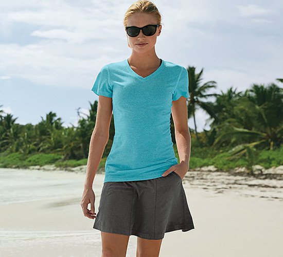 Image of a woman wearing a T-shirt