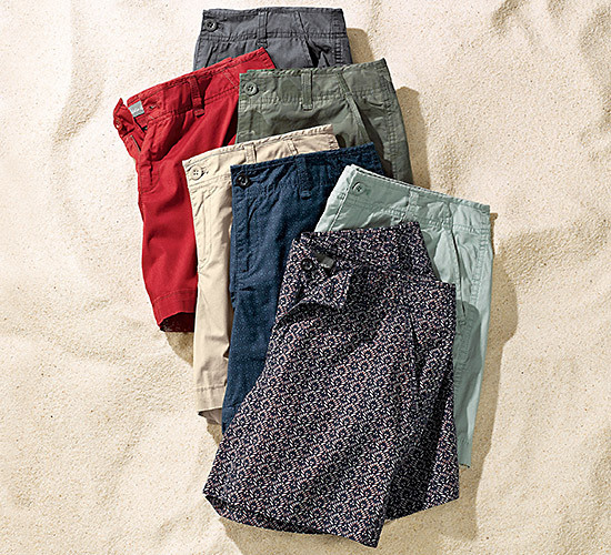 Image of several pairs of shorts in different colors