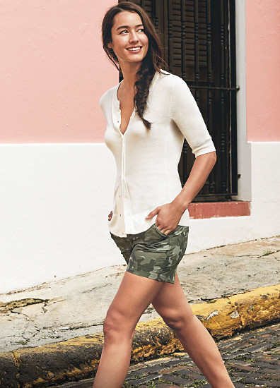 Image of a woman wearing shorts