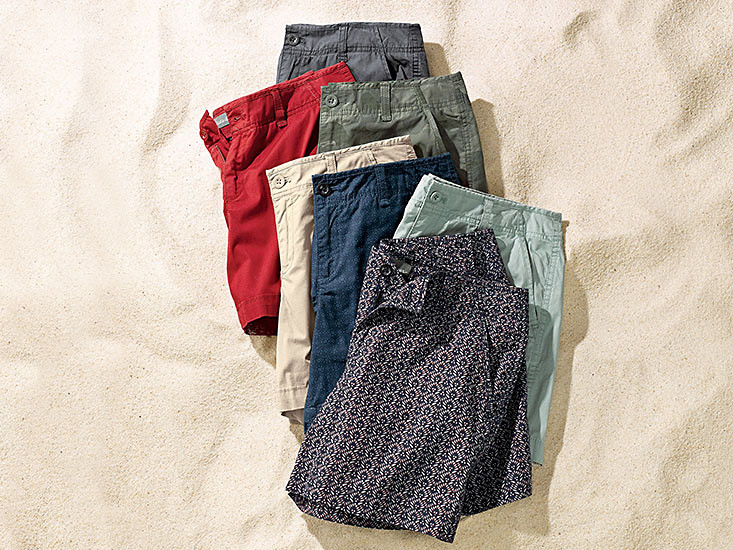 Image of the Willit Poplin Shorts in different colors and patterns