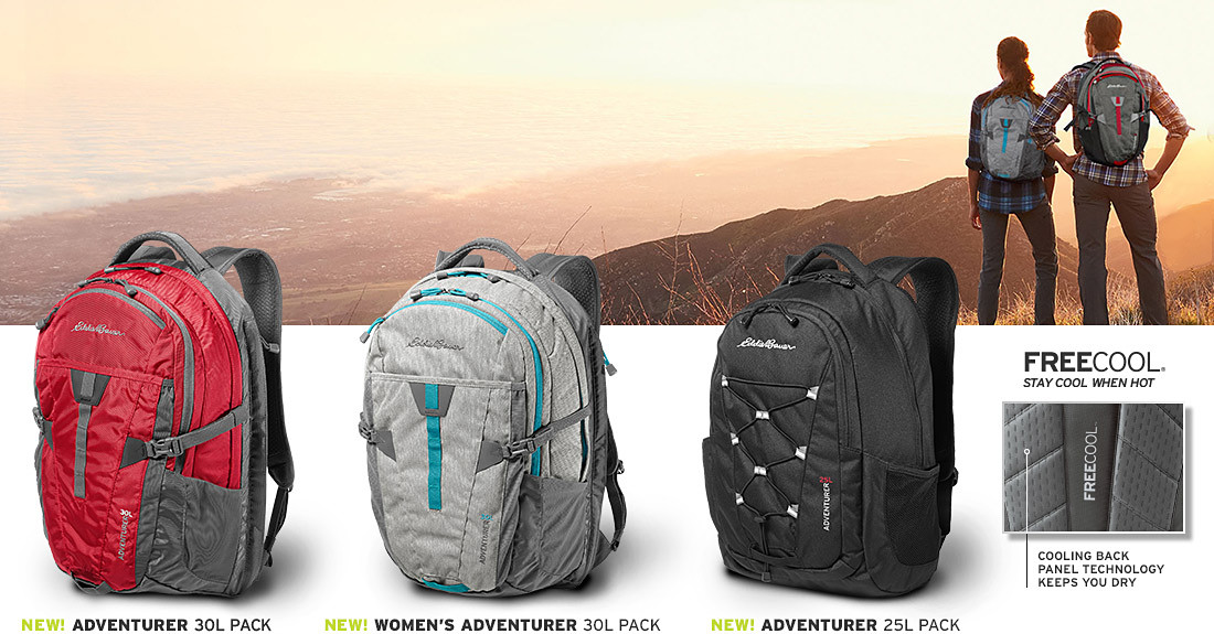 Images of three different Adventurer Packs