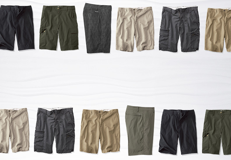A variety of different shorts for men