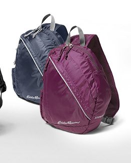 Image of a variety of backpacks