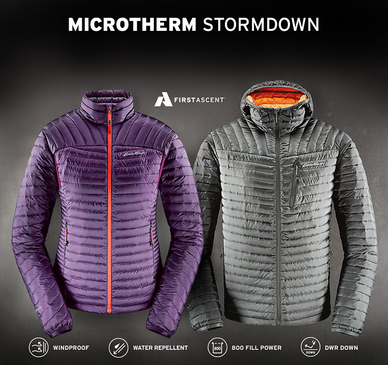 Men's and women's Microtherm Jackets