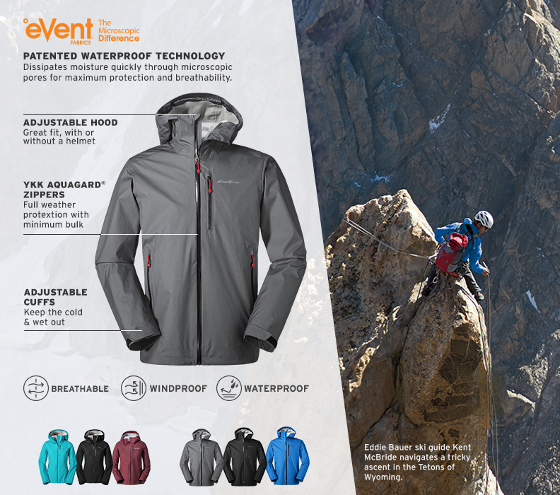 Features and details of the BC Alpine Lite Jacket