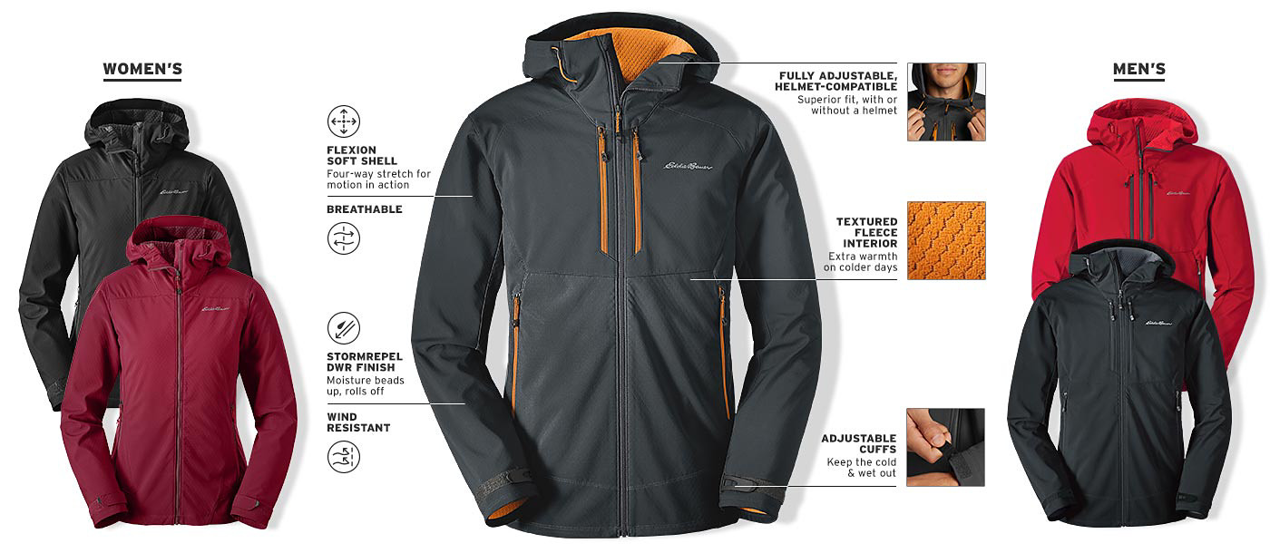 Features and details of the Sandstone Thermal Hooded Jacket